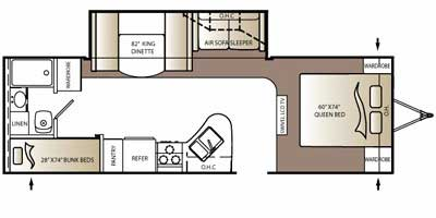 2010 Outback 270BH floorplan