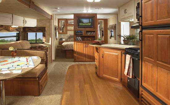 Outback Bh Int Front on Interior Of Travel Trailer Bunks