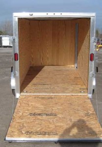 2014 Stealth Cargo Trailer for rent, ramp, interior