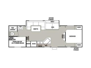 2012 Grey Wolf 28BH Floorplan