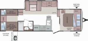 2012 Cougar 29 RBK Floorplan