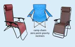 Camp Chairs & Recliners