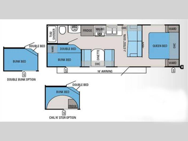 Floorpan 2013 Jayco Jay Flight Swift 264BH