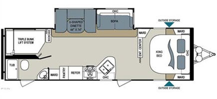 Aerolite 282DBHS floorplan
