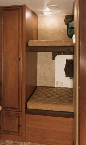 Rear bunk beds