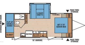 2012 Spree 231BH floorpan
