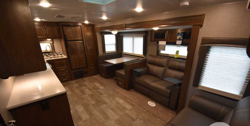 Roomy interior with large slide-out room